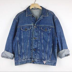 Vintage jean jacket rare Guess oversized retro cut